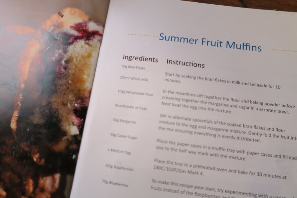 These tasty, high fibre fruit muffins are perfect for breakfast time and any time!
