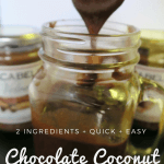 2 Ingredient Chocolate Coconut Ganache (No cream)