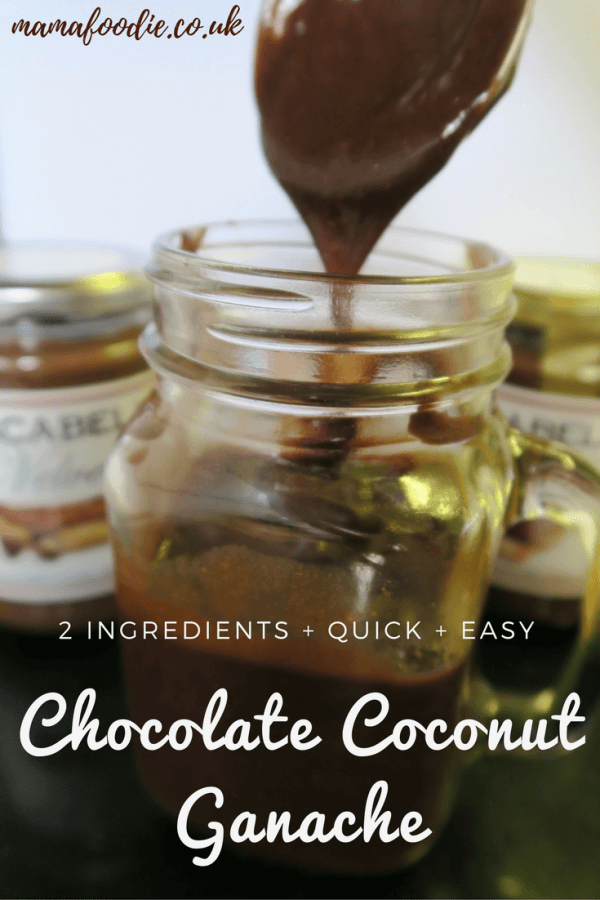 This is a super easy, quick chocolate sauce for desserts, puddings or as a cake covering, only 2 ingredients and no cream or cooking required.