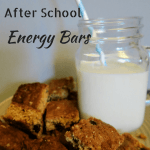 Oatmeal and Raisin After School Energy Bars