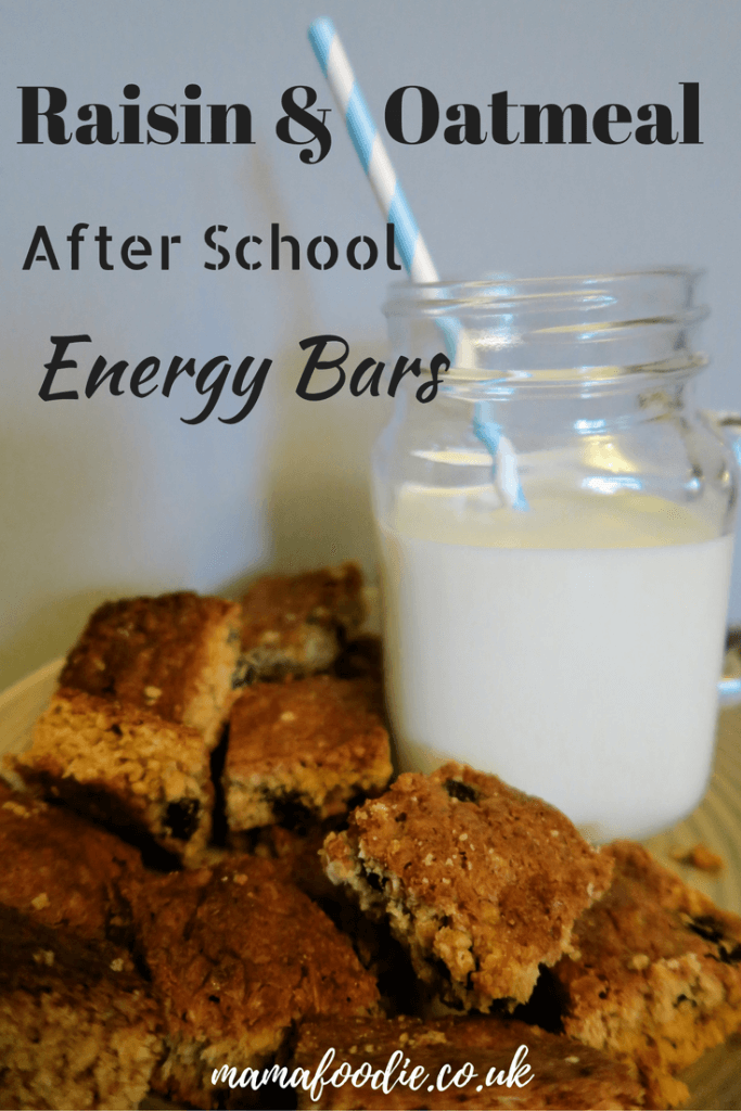 If your tribe are hungry after school, try these oaty raisin energy bars to keep them going! Quick and easy recipe here, makes lots and keeps well