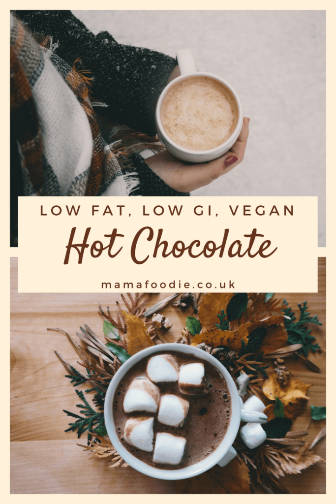 With a little bit of tweaking, it's possible to have a low fat, low GI, vegan hot chocolate, that tastes amazing! Click to try it